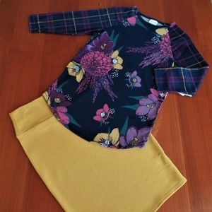 LULAROE OUTFIT! S- RANDY TOP & S- CASSIE SKIRT